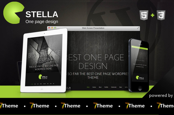 Stella - One Page WordPress Theme - Business