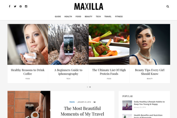 Maxilla Magazine WordPress Theme - Magazine