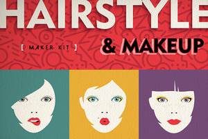Hairstyle & Makeup Maker Kit + bonus