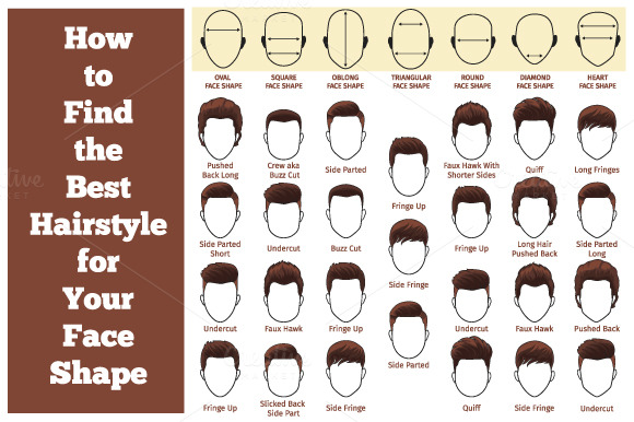 Set Mens Hairstyles Graphics Creative Market