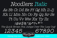Noodlerz Italic