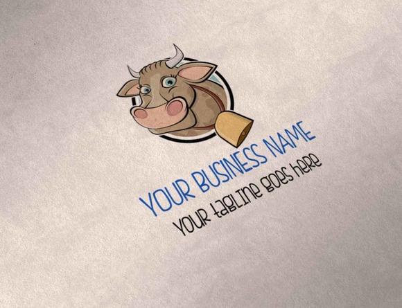 Cute Cow Multipurpose Logo
