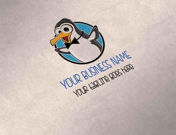 Cute Penguin Multipurpose Logo