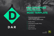 DAR - Creative Adobe Muse Template
