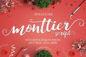 Monttier Script Font Duo + Extras