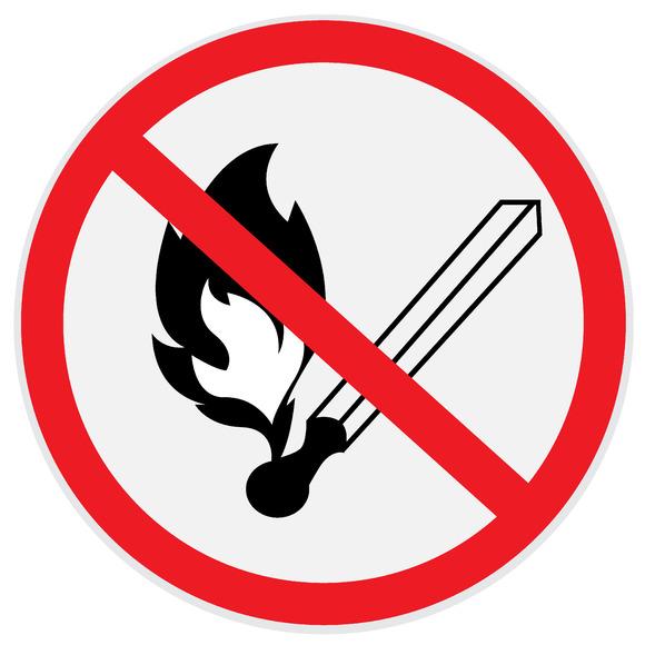 No Open Fire No Smoking Sign