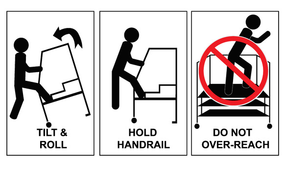 Danger Caution Ladder Sign