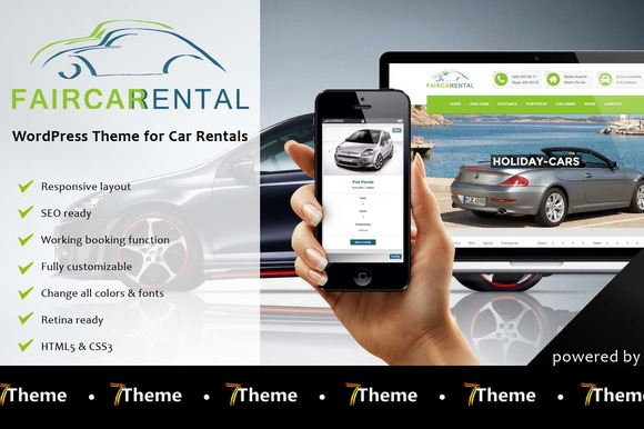 Faircar - WordPress Car Rental Theme - Business