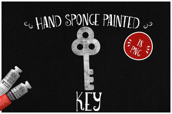 Sponge Painted Keys