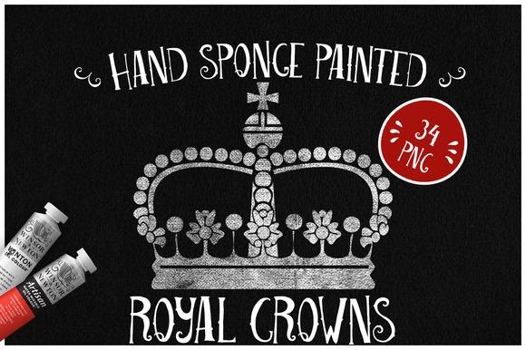Sponge Painted Royal Crowns