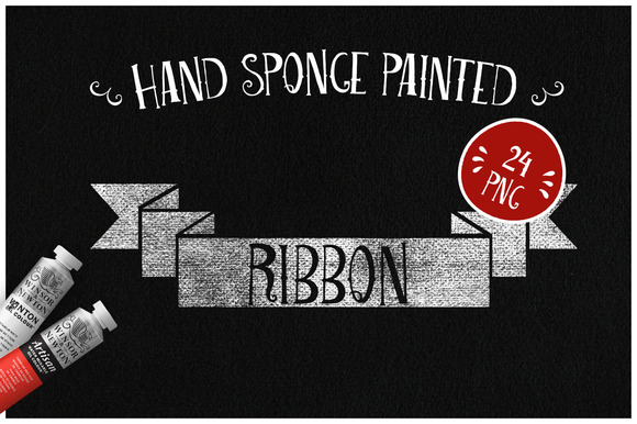 Sponge Painted Ribbons