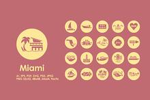 Miami simple icons