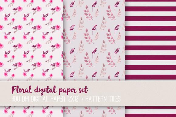 Floral Digital Paper Set VR-03
