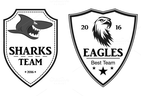 Sports Logo Patch Emblem Vector