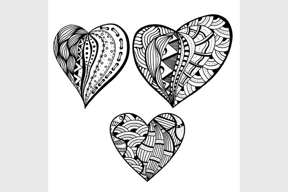 Vector Style Hearts
