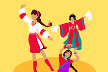 Folk Dance Concept Flat Design