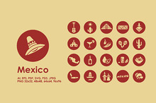 Mexico simple icons