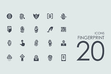 20 Fingerprint icons