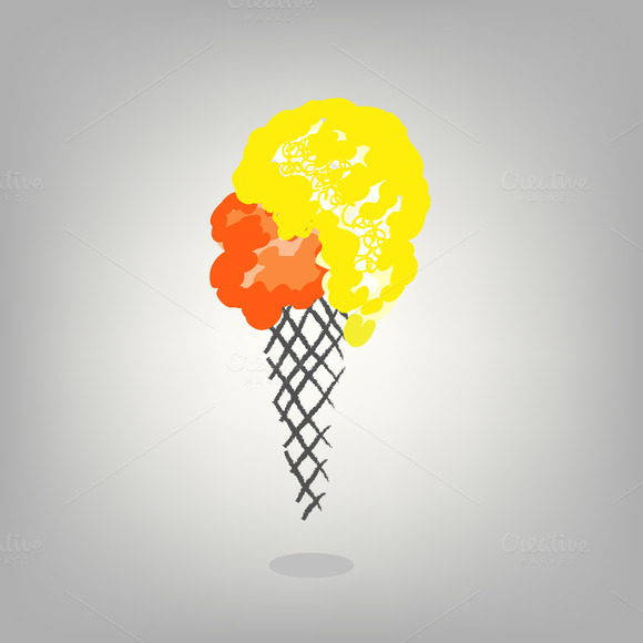 Isolated Ice Cream