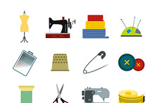 Sewing flat icon