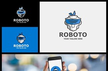 Roboto logo - high tech