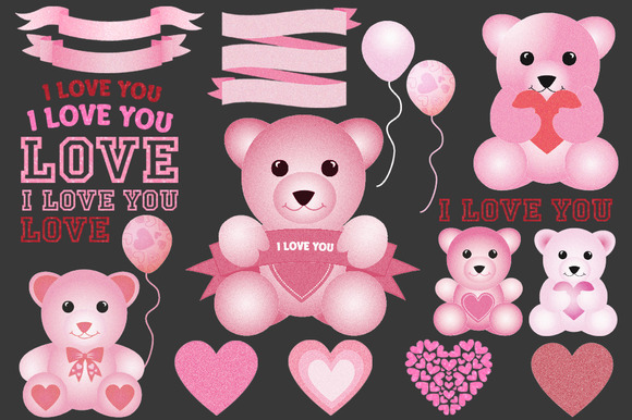 Valentine's Day Teddy Bear Clip Art