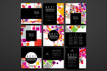 Set of Cards in abstract style