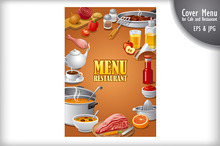 Food Menu Cover for Cafe
