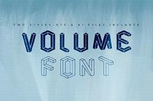 Volume Font and Vector Two Styles