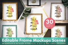 Editable Frame Mockups Scenes Bundle
