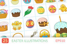 Easter symbols. Easy to mix