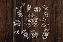 Beer icons - Hang Drawn