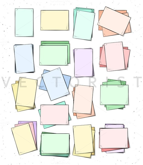Sheet. Isolated paper sheets  - Objects