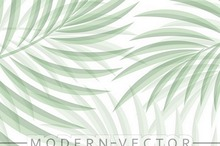 Exotic background with palm leaves