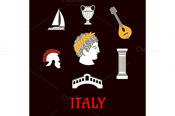 Italian Culture And Travel Icons