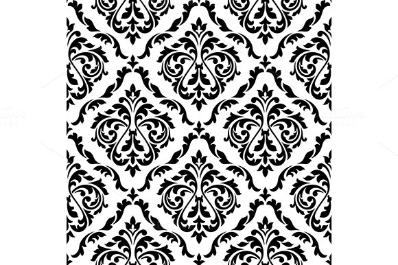 Damask Flora Lseamless Pattern