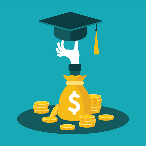Education Costs Concept Flat Style