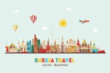 Russia detailed skyline