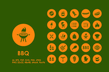BBQ simple icons