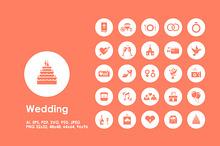 Wedding simple icons