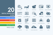 20 Digital Protection icons