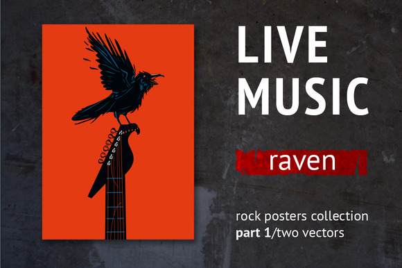 Live music. Raven - Illustrations