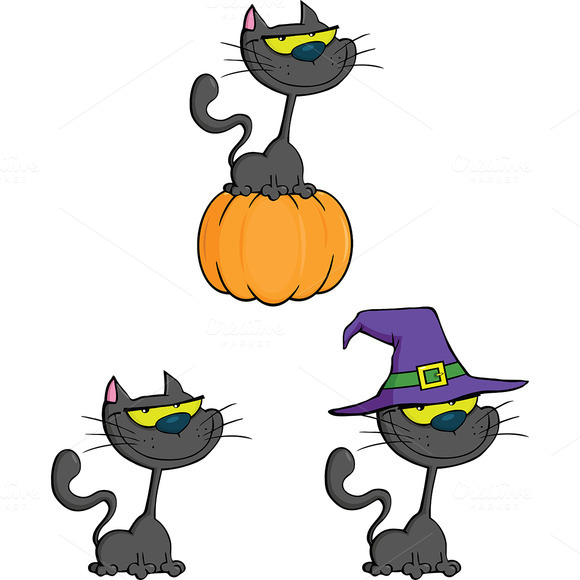 Halloween Cat Collection Set