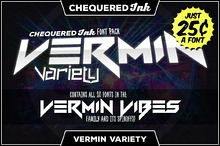 Vermin Variety [20 Fonts]