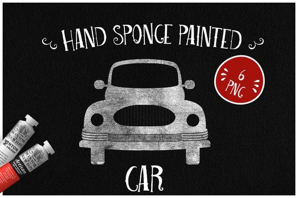 Sponge Painted Cars