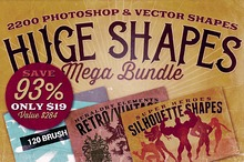 2200 Shapes Mega Bundle