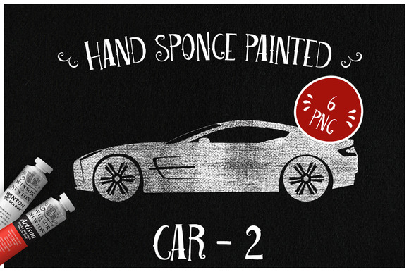 Sponge Painted Cars