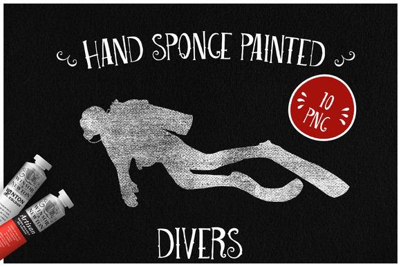 Sponge Painted Divers