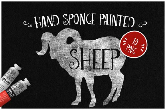 Sponge Painted Sheep