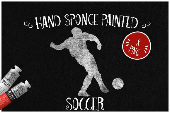 Sponge Painted Soccer